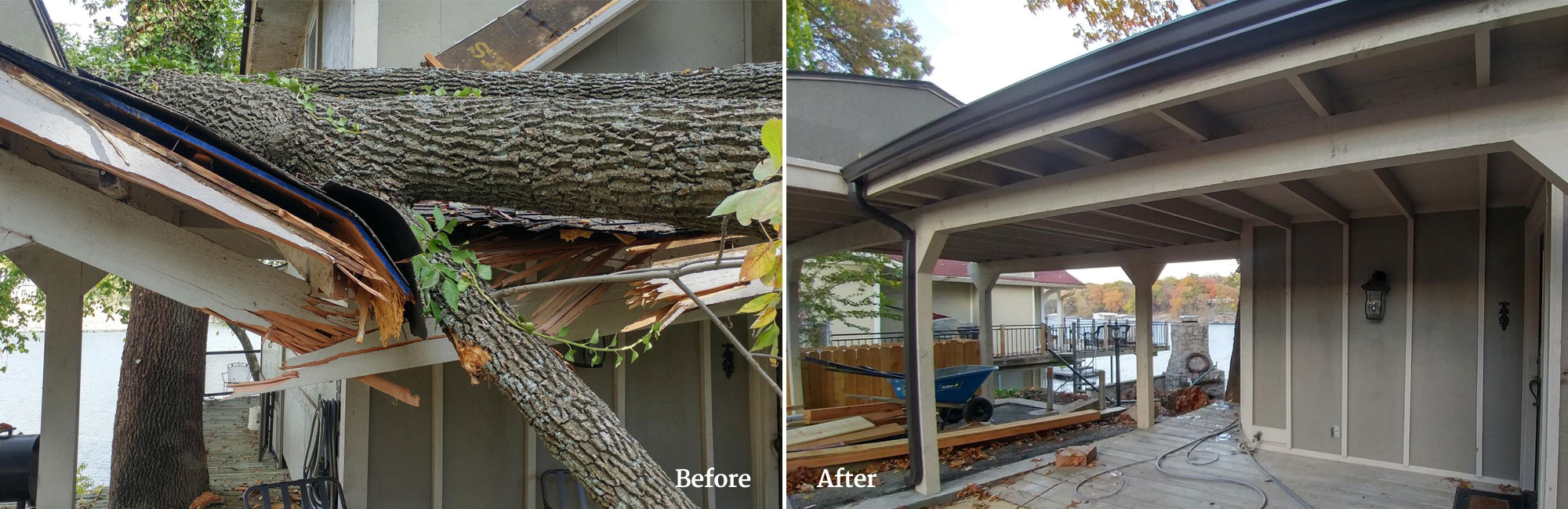 Before and After Our Roofing Services in Tulsa, OK