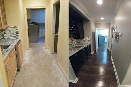 Before and After Our Home Remodeling Services in Tulsa, OK